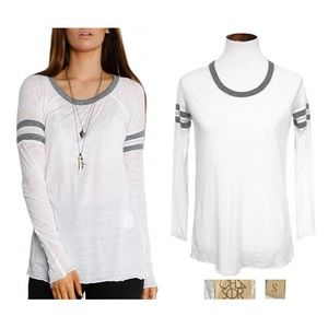 Chaser white long sleeve rugby top